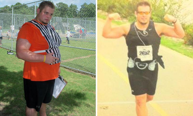 Great success story! Read before and after fitness transformation stories from women and men who hit weight loss goals and got THAT BODY with training and meal prep. Find inspiration, motivation, and workout tips | Former College Athlete Alex Started Running And Lost 80 Pounds