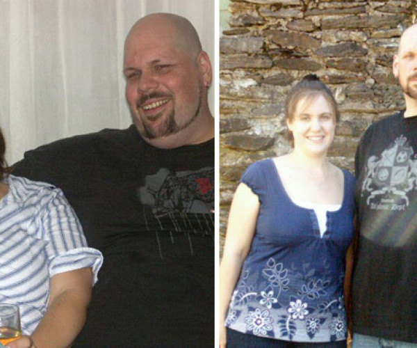 Tony, 225 pounds; Sheila, 74 pounds