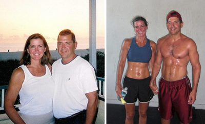 Timothy, 36 pounds; Eileen, 18 pounds