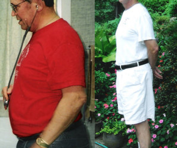 Donald made up his mind to change and lost nearly 60 pounds