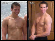 Great success story! Read before and after fitness transformation stories from women and men who hit weight loss goals and got THAT BODY with training and meal prep. Find inspiration, motivation, and workout tips | Dustin Draeger Muscle Makeover with Diet and Exercise