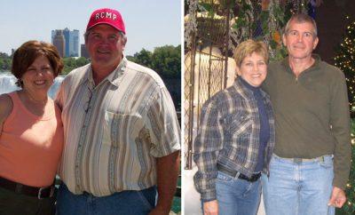 Kevin, 124 pounds; Tracy, 35 pounds