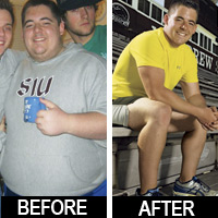 I lost 153 pounds! Read my weight loss success story and see my before and after weight loss pictures at the website The Weigh We Were. Hundreds of success stories, articles and photos of weight loss diet plans for men, tips for how to lose weight for men. Build muscle and lose belly fat with healthy male weight loss transformation pics for inspiration!