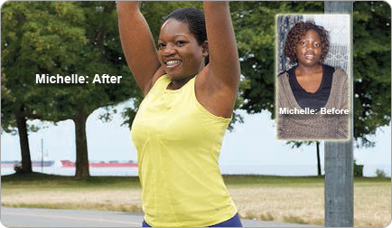 Great success story! Read before and after fitness transformation stories from women and men who hit weight loss goals and got THAT BODY with training and meal prep. Find inspiration, motivation, and workout tips | This time was different. Michelle lost 46 pounds.