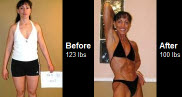 Carla Hampshire began a very strict program to reduce body fat down to 10% and a healthy weight of 100 lbs. Check it out!