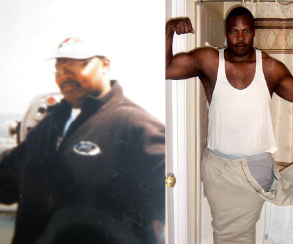 Derrick Williams, 37, of Dunwoody sheds 75 pounds