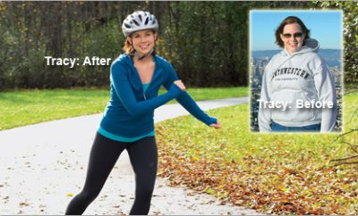 """I learned how to carve out time for myself."" Tracy lost 40 pounds."