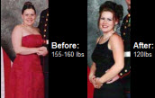 Jessie, goes from 160 Lbs. to 120 Lbs. Read on for more about this amazing transformation!