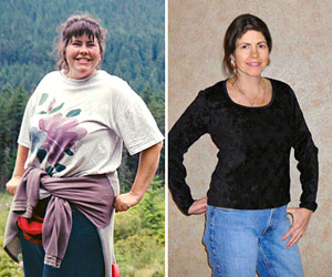 real weight loss success stories: robin dropped 95 pounds