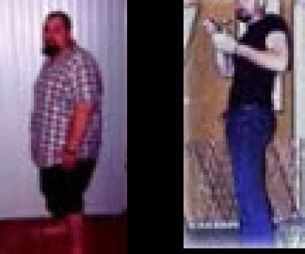 See how he went from 429 lbs to 194 lbs!