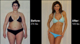 Great success story! Read before and after fitness transformation stories from women and men who hit weight loss goals and got THAT BODY with training and meal prep. Find inspiration, motivation, and workout tips | Read on to learn how Sarah decided that enough was enough and got motivated to lose 125 pounds!