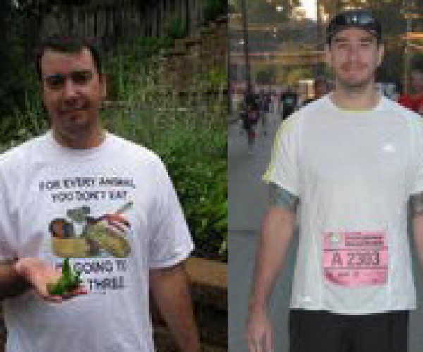 Shawn Gorrell of Atlanta lost 55 pounds