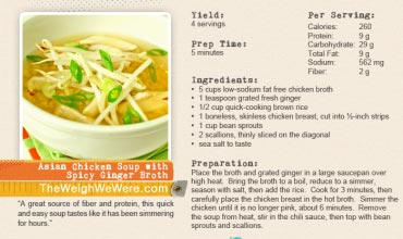 Asian Chicken Soup with Spicy Ginger Broth