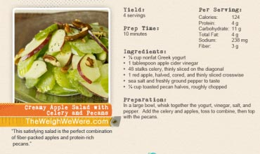 Creamy Apple Salad with Celery and Pecans