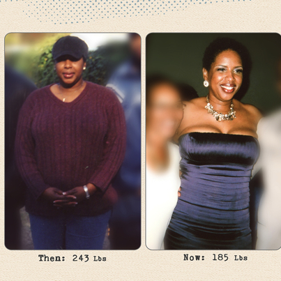 Great success story! Read before and after fitness transformation stories from women and men who hit weight loss goals and got THAT BODY with training and meal prep. Find inspiration, motivation, and workout tips | Dedra Fabre Lost 58 Pounds