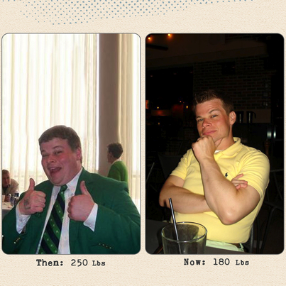 Great success story! Read before and after fitness transformation stories from women and men who hit weight loss goals and got THAT BODY with training and meal prep. Find inspiration, motivation, and workout tips   Mark Mizelle Lost 70 Pounds