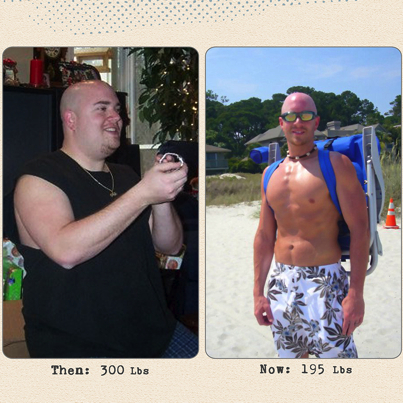 Great success story! Read before and after fitness transformation stories from women and men who hit weight loss goals and got THAT BODY with training and meal prep. Find inspiration, motivation, and workout tips | Mike Whitfield Lost 105 Pounds
