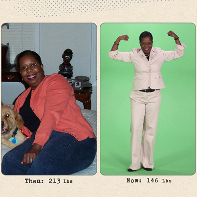 Great success story! Read before and after fitness transformation stories from women and men who hit weight loss goals and got THAT BODY with training and meal prep. Find inspiration, motivation, and workout tips | Regina Trolman Lost 67 Pounds