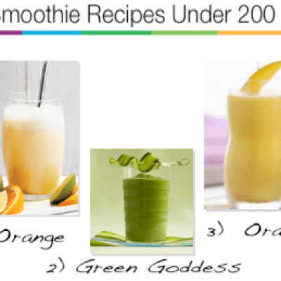 Three Smoothie Recipes Under 200 Calories