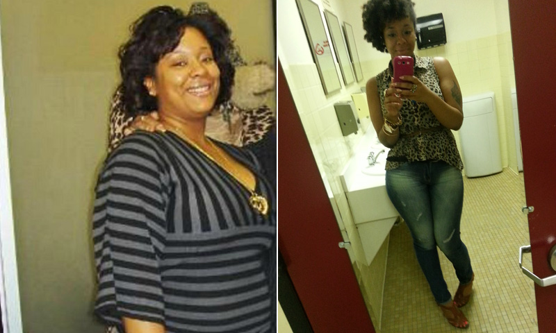 Great success story! Read before and after fitness transformation stories from women and men who hit weight loss goals and got THAT BODY with training and meal prep. Find inspiration, motivation, and workout tips | I Lost Weight: Aja Williams Cut Out White Starches And Sweets And Lost 61 Pounds