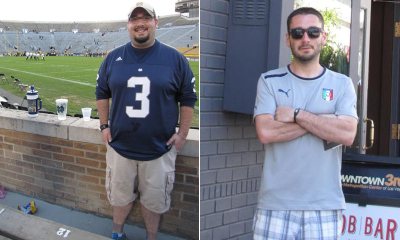 Great success story! Read before and after fitness transformation stories from women and men who hit weight loss goals and got THAT BODY with training and meal prep. Find inspiration, motivation, and workout tips | I Lost Weight: Andrew Salvaterra Wanted To Be A Better Father For His Daughter And Lost 120 Pounds