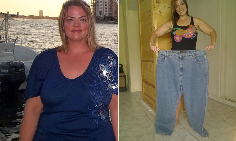 Great success story! Read before and after fitness transformation stories from women and men who hit weight loss goals and got THAT BODY with training and meal prep. Find inspiration, motivation, and workout tips | Caitlin Flora Committed To Working Out At Home And Lost 187 Pounds