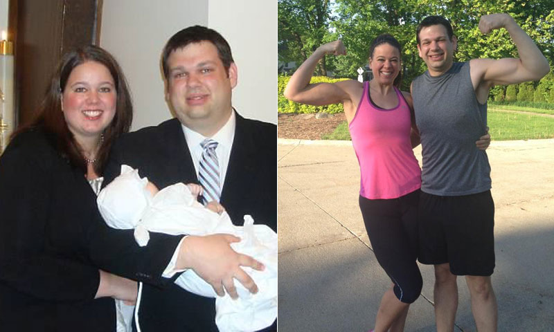 Great success story! Read before and after fitness transformation stories from women and men who hit weight loss goals and got THAT BODY with training and meal prep. Find inspiration, motivation, and workout tips | I Lost Weight: Callista And Jason Puchmeyer Wanted To Be Good Role Models For Their Daughters And Lost 284 Pounds Together