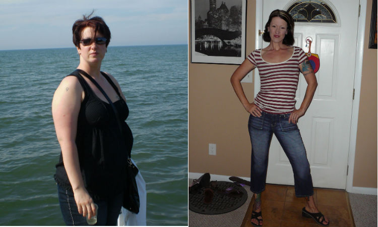 Great success story! Read before and after fitness transformation stories from women and men who hit weight loss goals and got THAT BODY with training and meal prep. Find inspiration, motivation, and workout tips | I Lost Weight: Erica Perna Set Short  And Long Term Goals And Lost 100 Pounds