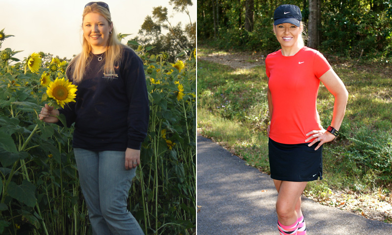 Great success story! Read before and after fitness transformation stories from women and men who hit weight loss goals and got THAT BODY with training and meal prep. Find inspiration, motivation, and workout tips | I Lost Weight: Gina Mooney Took Up Running And Lost 76 Pounds