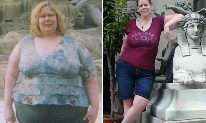 Great success story! Read before and after fitness transformation stories from women and men who hit weight loss goals and got THAT BODY with training and meal prep. Find inspiration, motivation, and workout tips | Heidi Riess Learned Not To Attach Morality To Food And Lost 165 Pounds