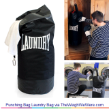 Punching Bag Laundry Bag – The Sporty Laundry Bag in Disguise