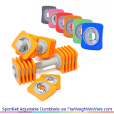 SportBell Adjustable Dumbbells – The Fun and Colorful Way To Exercise with Weights