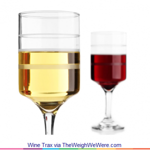 Wine Trax – the Wine Glass with a Measure