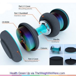 Health Green Up+ – the Dumbbells Built with Recycled CDs