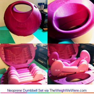 Neoprene Dumbbell Set – the Pink Compact Weights in a Kettle Bell Case