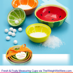 Fresh & Fruity Measuring Cups – the Colorful Hand Painted Measuring Cups