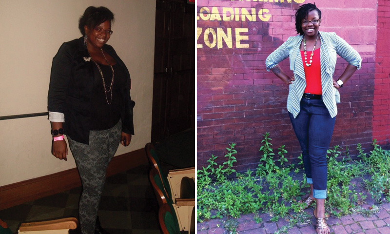 Great success story! Read before and after fitness transformation stories from women and men who hit weight loss goals and got THAT BODY with training and meal prep. Find inspiration, motivation, and workout tips | I Lost Weight: Kiera Smalls Adopted A Plant Based Diet And Lost 65 Pounds