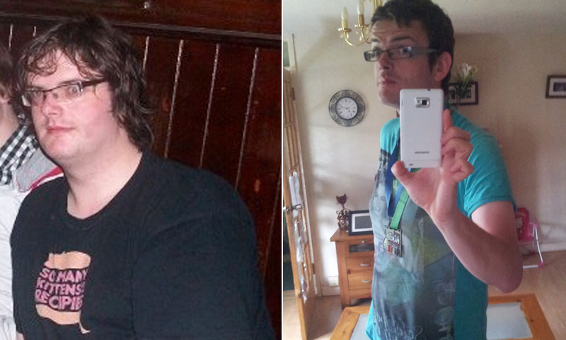 Great success story! Read before and after fitness transformation stories from women and men who hit weight loss goals and got THAT BODY with training and meal prep. Find inspiration, motivation, and workout tips | I Lost Weight: Matt Waterworth Learned To Love Running And Lost 80 Pounds