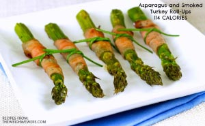 Asparagus and Smoked Turkey Roll-Ups – 114 Calories