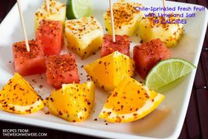 Chile-Sprinkled Fresh Fruit with Lime and Salt – 119 Calories