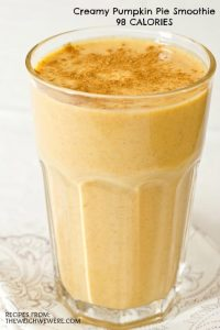 Creamy Pumpkin Pie Smoothie – 98 Calories