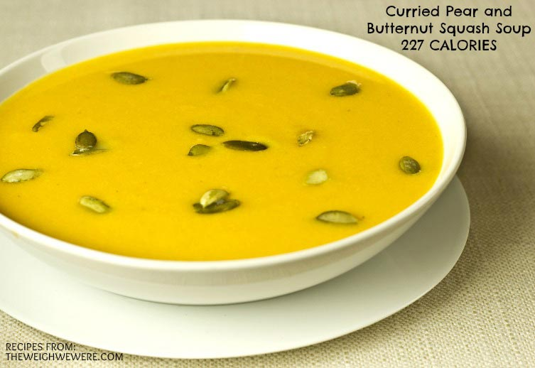Great success story! Read before and after fitness transformation stories from women and men who hit weight loss goals and got THAT BODY with training and meal prep. Find inspiration, motivation, and workout tips | Curried Pear and Butternut Squash Soup   227 Calories