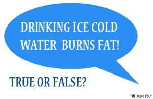 Ice Water Helps Burn More Calories!  Read how…