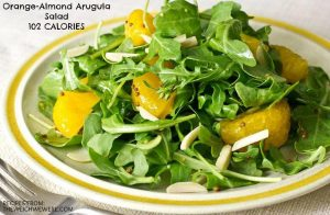 Orange-Almond Arugula Salad – 102 Calories