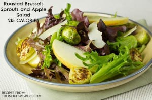 Roasted Brussels Sprouts and Apple Salad – 215 Calories