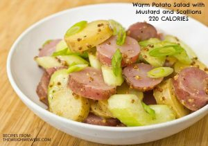 Warm Potato Salad with Mustard and Scallions – 220 Calories