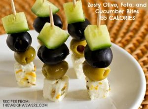 Zesty Olive, Feta, and Cucumber Bites – 155 Calories