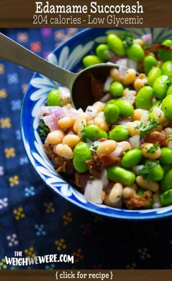 Great success story! Read before and after fitness transformation stories from women and men who hit weight loss goals and got THAT BODY with training and meal prep. Find inspiration, motivation, and workout tips | Low Glycemic Recipe Edamame Succotash   204 Calories