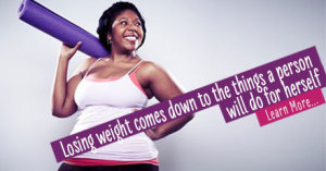 Losing weight comes down to the things a person will do for herself