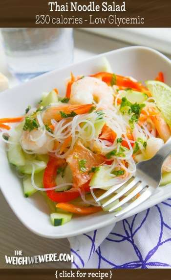 Great success story! Read before and after fitness transformation stories from women and men who hit weight loss goals and got THAT BODY with training and meal prep. Find inspiration, motivation, and workout tips | Low Glycemic Recipe Thai Noodle Salad   230 Calories